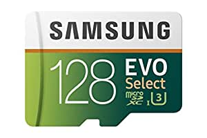 Samsung 128GB 100MB/s (U3) MicroSD EVO Select Memory Card with Adapter (MB-ME128GA/AM)