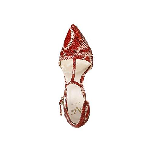 V 1969 - CORALIE_ROSSO Damen-Pumps Und Ferse Hoch Fersen Stilette Fersen: 11.5 cm