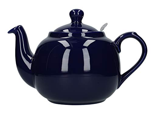 London Pottery Farmhouse Loose Leaf Teapot with Infuser, Ceramic, Cobalt Blue, 6 Cup (1.6 Litre)