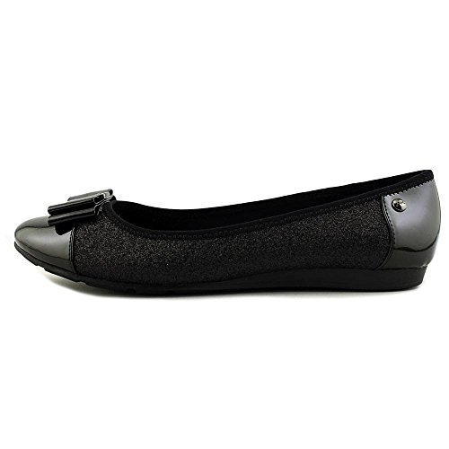 Anne Klein Womens Aricia Closed Toe Ballet Flats, Black/Glitter, Size 5.0