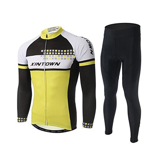 混雑幹下線Lymade サイクルジャージ ショーツ サイクルウェア 上下セット メンズ 長袖 秋冬用 サイクリングウェア