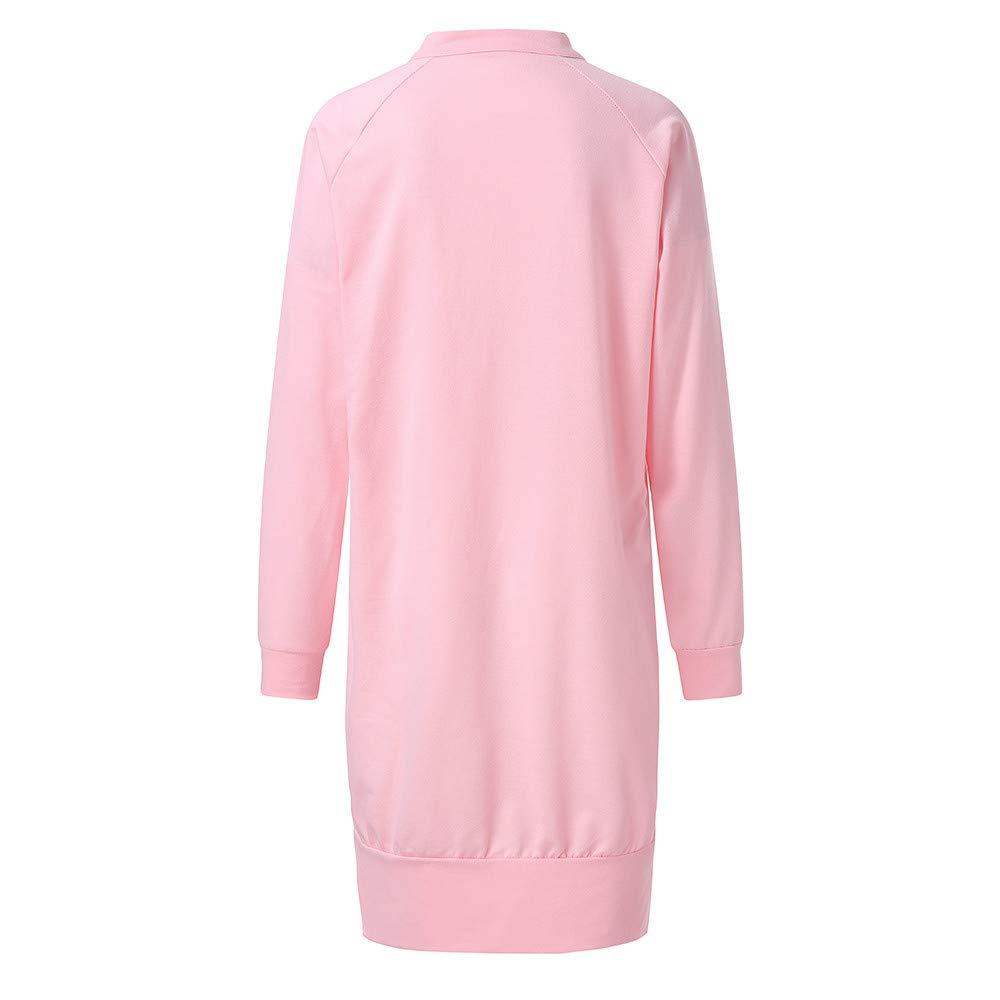 HYIRI Xmas Christmas Temperament Ladies Casual Dress,Women Long Sleeve Split Sweatshirt Dress