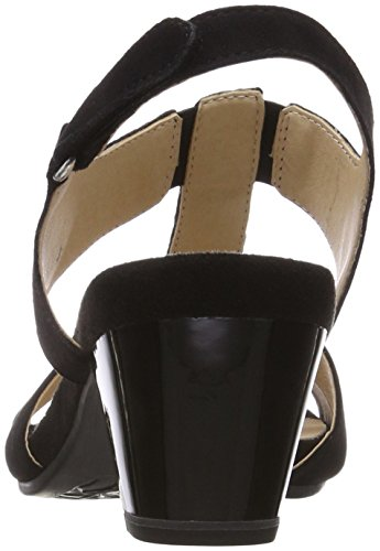 Caprice Damen 28208 Slingback Sandalen Schwarz (Black Suede 4)
