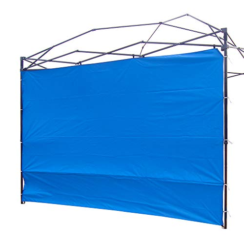 (NINAT Canopy Sunwall 10 ft Sunshade Privacy Panel for Gazebos Tent Waterproof, Sun Wall for Straight Leg Gazebos,1 Pack Sidewall Only,Blue )