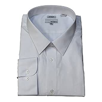 "11adae04 Modena White Stout Body / Extra Full Body Big and Tall Dress Shirt  (16.5"""