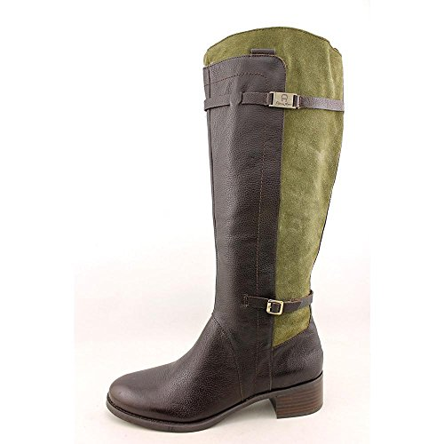 Etienne Green Chocolate Women's Leather Colton Boots Riding Aigner vvzq8T