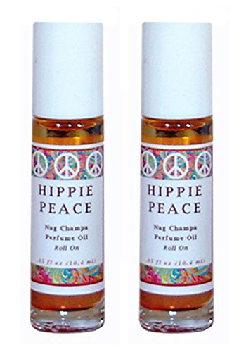Hippie Peace (Nag Champa) Perfume Oil Roll On – Set of 2 (THIS ITEM SHIPS FREE ! PROMOTION APPLIED DURING CHECK OUT)