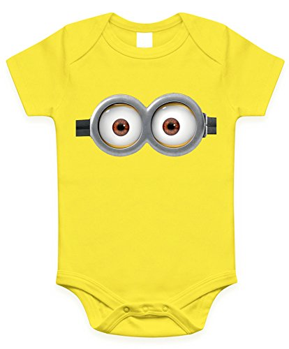 Minion Eyes Infant Baby Onesies / Bodysuit (6-12 months, Yellow two -