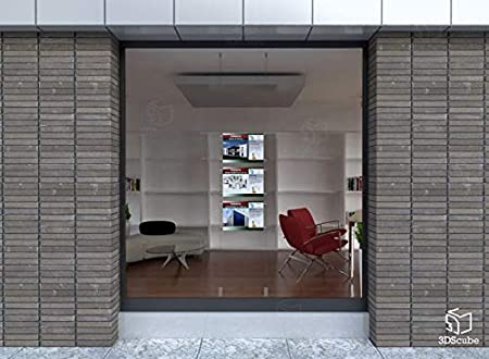 porta annunci per agenzie immobiliari Espositore a cavetti da vetrina avvisi agenzie viaggi studi fotografici cartelle in plexiglass formato A3 orizzontale 3 Cartelle