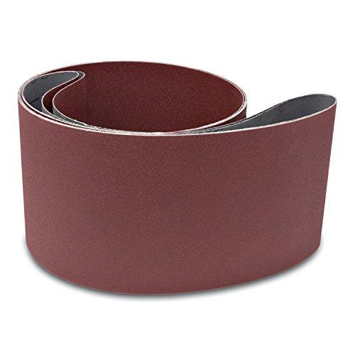 2 Pack 6 X 89 Inch 150 Grit Aluminum Oxide Multipurpose Sanding Belts