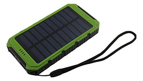 ATEX Solar Charger, 12000mAh Portable Solar Power Bank Rainproof/Shockproof/Dustproof Dual USB Battery Bank for cell phone,iPhone,Samsung,Android phones,Windows phones,GoPro Camera,GPS and More
