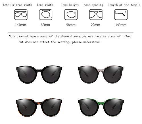 De Sol Retro Radiación Negro UV Polarizada Grande Unisex Marco Retro última Protección Gafas contra WJYTYJ La La Gafas Marco wXHnaT7HSq