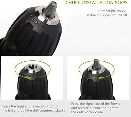 Faux 12V Clé À Chocs sans Fil Charge Rapide 45 Nm Visseuse A Chocs 1450Rpm Haute Vitesse avec Lampe De Travail À LED pour L'installation  sYamn