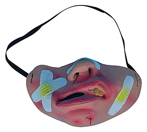 Maze Funny Latex Eclectic Ugly & Grotesque Faces Half Face Halloween Masks, 3- One -