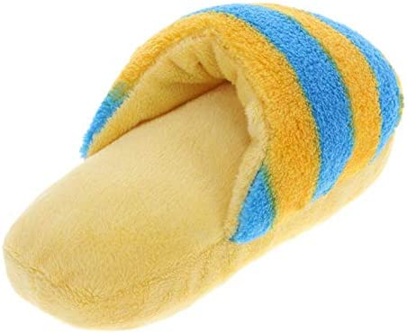 Livedealing Juguete de Peluche con Forma de Zapatilla Gatos para Mascotas Juguete chirriador Divertido para Perros Cachorros Limpieza de Dientes