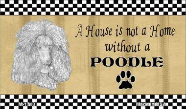 Bargain World Poodle Pencil Sketch Magnet With Sticky Notes
