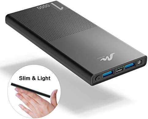 10000mAh Cell Phone External Battery Pack, Portable Phone Charger Power Bank 5V 3.1A Fast ...
