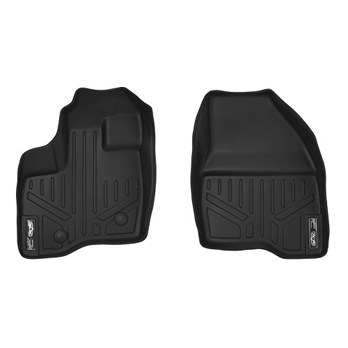 SMARTLINER Floor Mats 1st Row Liner Set Black for 2011-2014 Ford Explorer