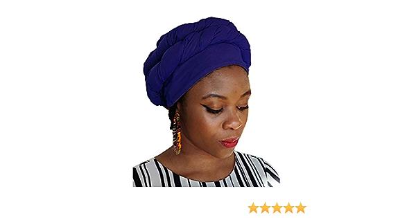 Pre-tied Head wrap DP3839PT Details about  / Purple African Modu Hat