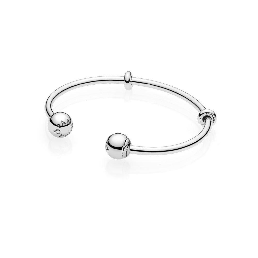 4884147a1 Amazon.com: Pandora Bracelet 596477-2 Female Moments Silver: Jewelry