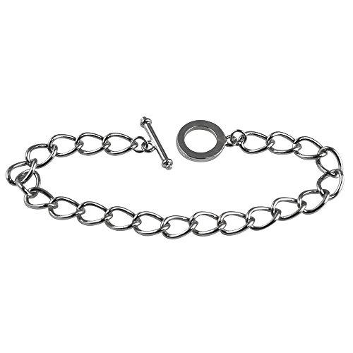 RAYHER 2262021Link Toggle Bracelet, 20cm, Platinum