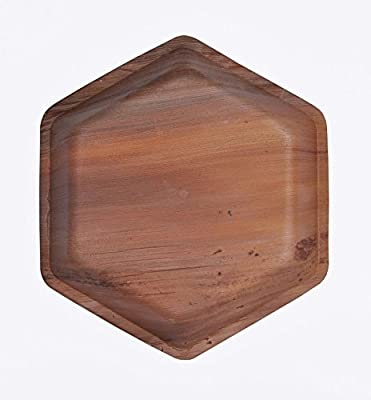 "Green Atmos 9"" Hexagon Biodegradable, Compostable And Eco-friendly Disposable Areca Palm Leaf Plates"