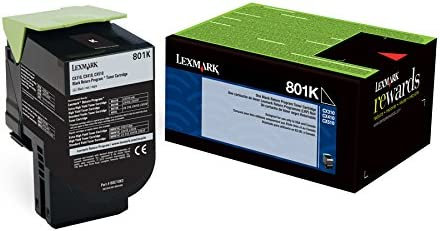 80C10K0 Black Toner Cartridge 2-Pack 801K Lexmark