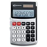 Handheld Calculator – Hard Flip Case, Eight-Digit, Dual Power, Silver(sold in packs of 3), Office Central