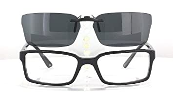 227270e4cef Image Unavailable. Image not available for. Color  VERSACE 3142-54X17 POLARIZED  CLIP-ON SUNGLASSES (Frame ...