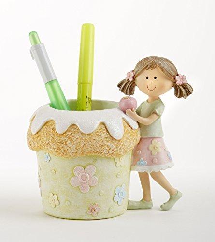 Delton Products Resin Cupcake Girl Pencil (Kids Halloween Cupcake Idea)