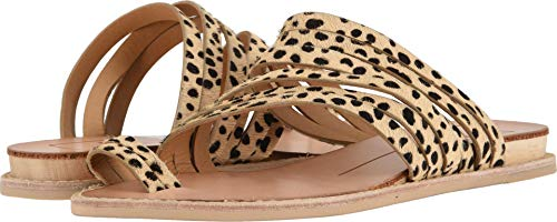 Dolce Vita Women's Nelly Flat Sandal Leopard Calf Hair 8 M US