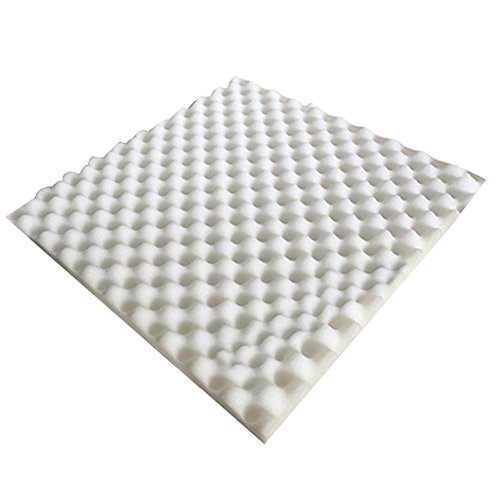 tangc-high-density-50x50x3cm-egg-sound-absorption-soundproof-studio-foam-panel-tile-white
