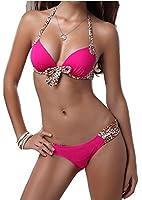 Ebuddy Push up Leopard Swimsuit Swimwear Bathing Suit Bikini Set Beachwear