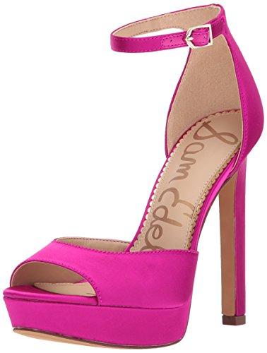 Sam Edelman Women's Wallace Heeled Sandal, Berry Crush, 7.5 Medium US
