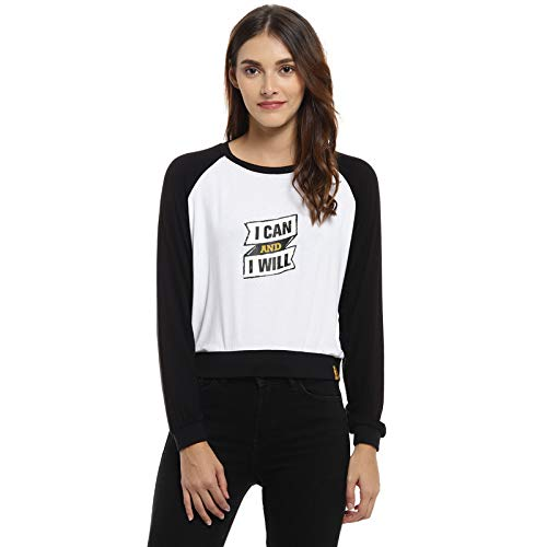 Campus Sutra Casual Full Sleeve Printed Women White, Black Top