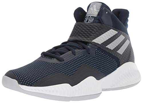 adidas Men's Explosive Bounce 2018 Basketball Shoe, Collegiate Navy/Silver Metallic/Dark Blue, 6.5 M US