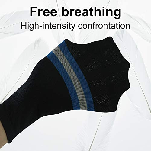 6 Pack Black Hissox Men/'s Workout Home Sports Training Socks Moisture Wicking Athletic Socks Stretchy Fitness Casual Socks blue 10-13