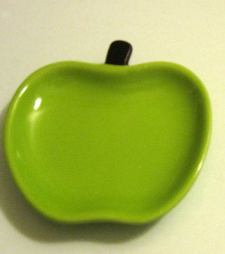 NEW Green Apple Fruit Design Plate Kitchen Utensil Spoon Rest