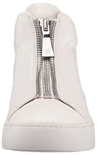 Frye Womens Lena Zip Alta Moda Sneaker Bianca Mucca Cadente