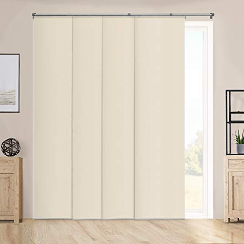 (CHICOLOGY Cordless, Room Darkening Panel Track Blinds Up to 80