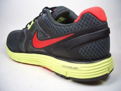Nike Lunarglide+ 3 454164-016 Schwarz-Rot/Gelb Größe Euro 49,5 / US 15 / UK 14