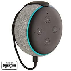 "Made for Amazon"" Mount for Echo Dot (3rd Gen) – Installs in Minutes with Included 3M Strips Or Screws – Black"