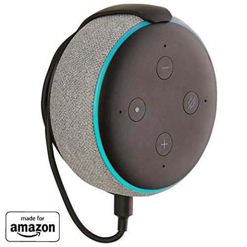 """Made for Amazon"" Mount for Echo Dot (3rd Gen) – Installs in Minutes with Included 3M Strips Or Screws – Black"