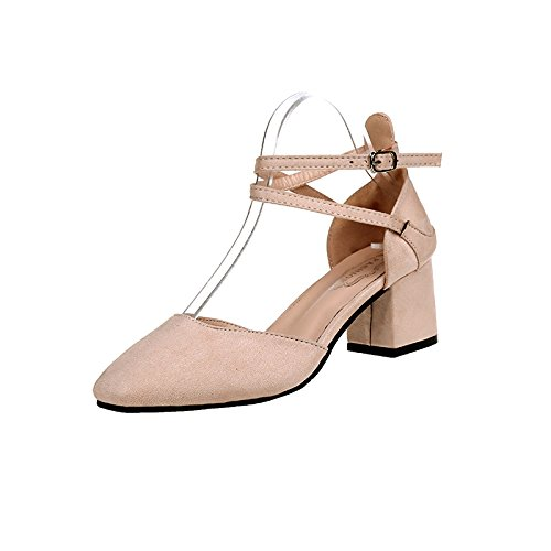 square Thirty Heel female in Beige sandals heel head five heel 4wA8tqf