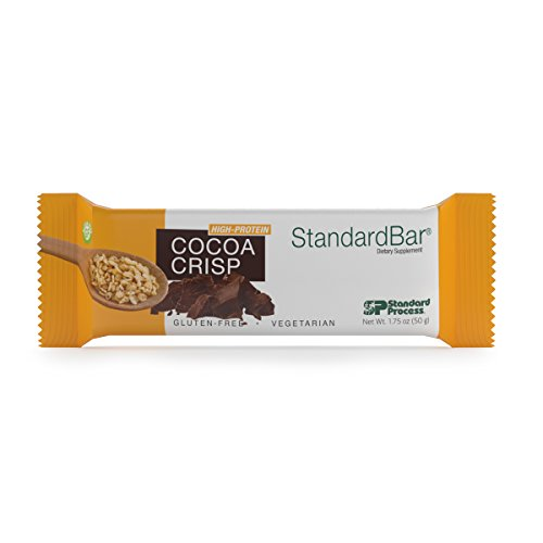 Standard Process – Cocoa Crisp StandardBar – High-Protein Supplement, 15 g Protein with Calcium, Dietary Fiber, Gluten Free and Vegetarian – 18 Bars 1.75 oz. Each