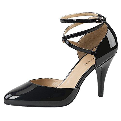 Heels-Perfect Damenpumps, Damen, Schwarz (Schwarz) Schwarz (Schwarz)