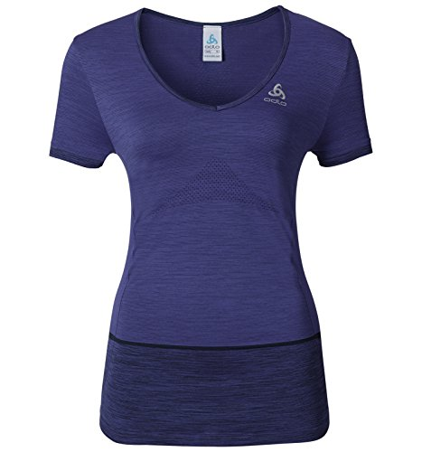Odlo Women's Seamless Kamilera V Neck T-Shirt - SS17 Azul