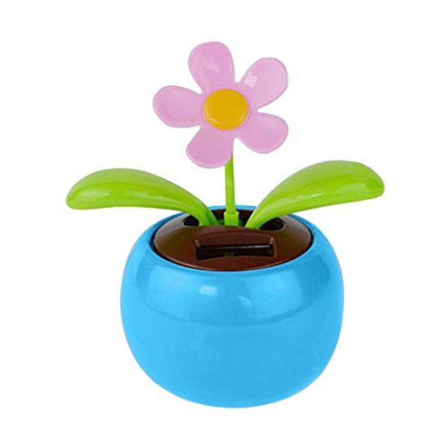 Lisin New Solar Powered Dancing Flower Swinging Animated Dan