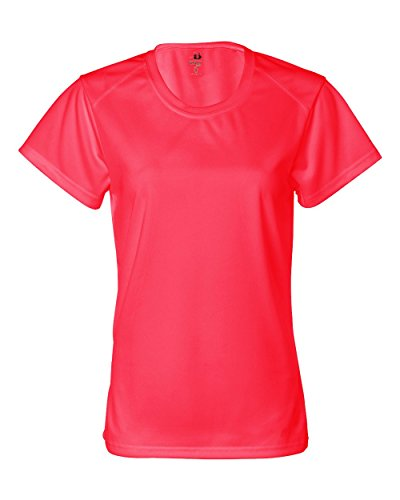 Badger B-Core Ladies' Short Sleeve Tee (Hot Coral) (M)