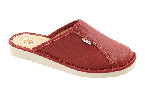 41 fermés W0772e cuir chaussons ou pantoufles ouverts orteil liege lin Confort de tailles 36 femmes 6Oxw0wqC